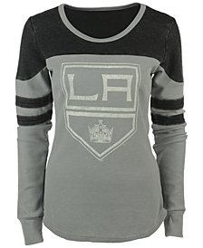 G-III Sports Women's Los Angeles Kings Hat Trick Thermal Long-Sleeve T-Shirt