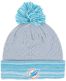 New Era Women's Miami Dolphins Snow Crown Redux Knit Hat