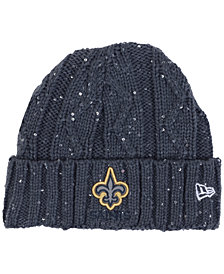 New Era Women's New Orleans Saints Frosted Cable Knit Hat