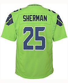 Nike Richard Sherman Seattle Seahawks Color Rush Jersey, Big Boys (8-20)