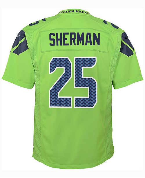 big sale 6dcde a9a14 sherman color rush jersey