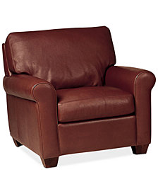 "Savoy 38"" Leather Chair"