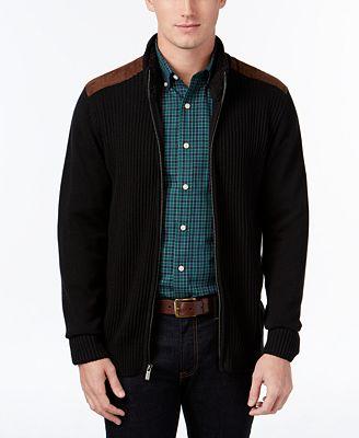 Tricots St. Raphael Men's Mock-Neck Ribbed Sweater