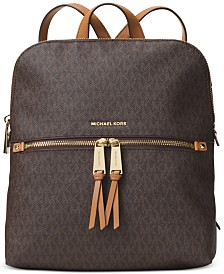 MICHAEL Michael Kors Signature Rhea Medium Slim Backpack