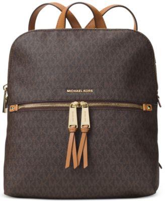 michael kors signature rhea medium slim backpack handbags rh macys com