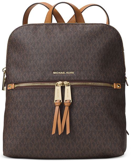 99bef999bd0c Michael Kors Signature Rhea Medium Slim Backpack   Reviews ...