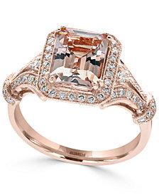 EFFY® Morganite (2-1/5 ct. t.w.) and Diamond (1/3 ct. t.w.) Ring in 14k Rose Gold
