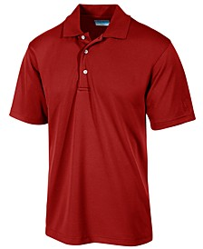 Men's Big and Tall Airflux Solid Golf Polo Shirt
