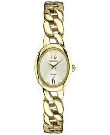 Seiko Women's Solar Gold-Tone Stainless Steel Bracelet Watch 19mm SUP338