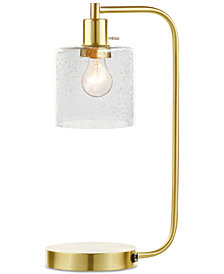 "Decorator's Lighting 20"" Gold-Finish Metal Desk Lamp"