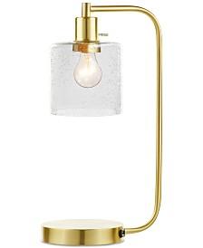 "Decorator's Lighting 20"" Gold-Finish Metal Desk Lamp"