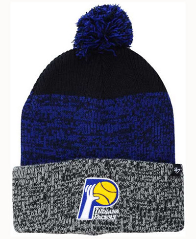 '47 Brand Indiana Pacers Black Static Pom Knit Hat