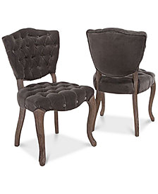 Lorman Set of 2 Dining Chairs, Quick Ship