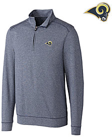 Cutter & Buck Men's Los Angeles Rams Shoreline Quarter-Zip Pullover
