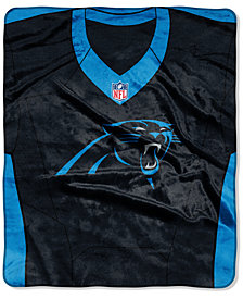 Northwest Company Carolina Panthers Jersey Plush Raschel Throw