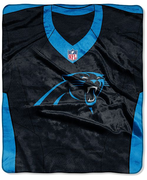 Northwest Company Carolina Panthers Jersey Plush Raschel Throw ... c74dd1967
