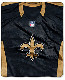 Northwest Company New Orleans Saints Jersey Plush Raschel Throw