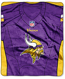 Northwest Company Minnesota Vikings Jersey Plush Raschel Throw