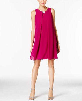 MSK Rhinestone Chiffon Flyaway Dress - Dresses - Women ...