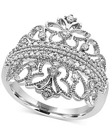 Pavé Classica by EFFY® Diamond Tiara Ring (1/2 ct. t.w.) in 14k White Gold