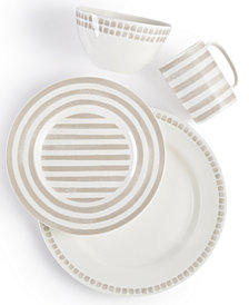 kate spade New York Charlotte Street Grey North Dinnerware Collection
