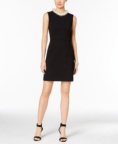 Betsey Johnson Embellished Sheath Dress