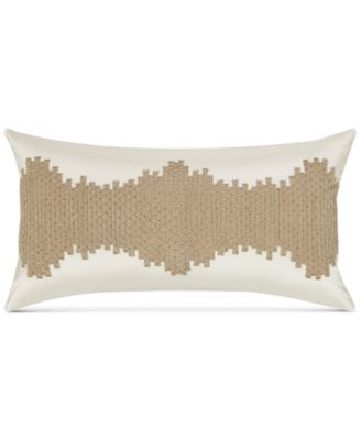 """CLOSEOUT! Distressed Chevron 14"""" x 26"""" Decorative Pillow, Created for Macy's"""