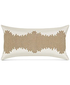 "Hotel Collection Distressed Chevron 14"" x 26"" Decorative Pillow, Created for Macy's"