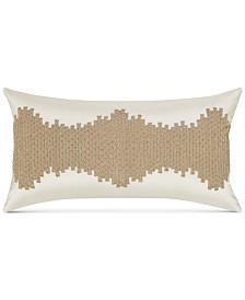 "CLOSEOUT! Hotel Collection Distressed Chevron 14"" x 26"" Decorative Pillow, Created for Macy's"
