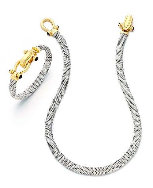 Macy's Horseshoe Necklace and Bangle Set in 14k Gold over Sterling Silver