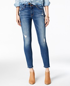 DL1961 Florence Mid Rise Instascuplt Skinny Ripped Jeans