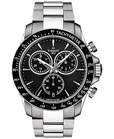 Tissot Men's Swiss Chronograph V8 Stainless Steel Bracelet Watch 42mm T1064171105100