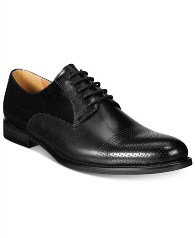 Bar III Men's Jamie Perforated Plain-Toe Oxfords, Only at