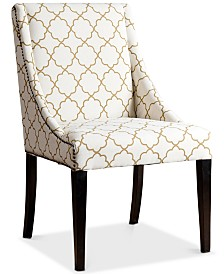 CLOSEOUT! Feltyn Swoop Dining Chair, Quick Ship