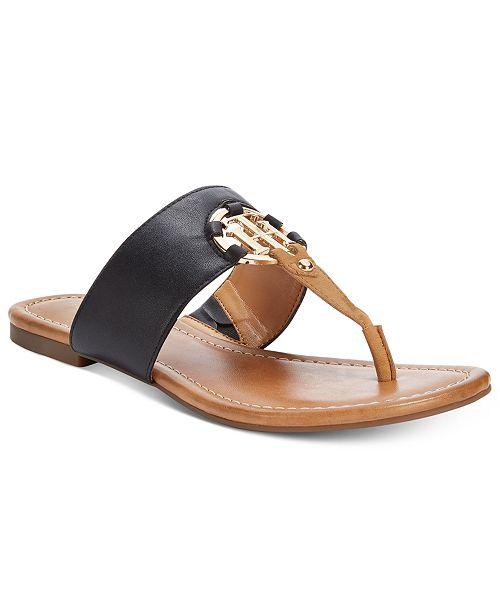 02ebc8e62633e Tommy Hilfiger Sia Slip-On Thong Sandals   Reviews - Sandals ...