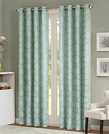 Madison Park Amara Jacquard Ogee Grommet Window Panels