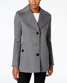 Petite Single-Breasted Peacoat