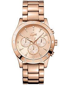 Lacoste Women's Charlotte Rose Gold-Tone Stainless Steel Bracelet Watch 40mm 2000964