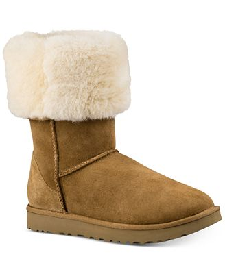 Ugg Womens Classic Ii Genuine Shearling Lined Tall Boot Boots Shoes Macys