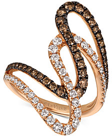 Le Vian Chocolatier® Diamond Abstract Swirl Ring (1-1/6 ct. t.w.) in 14k Rose Gold