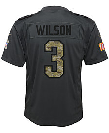 Nike Russell Wilson Seattle Seahawks Salute to Service Jersey, Big Boys (8-20)