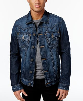 true religion men 39 s jimmy denim jacket coats jackets. Black Bedroom Furniture Sets. Home Design Ideas