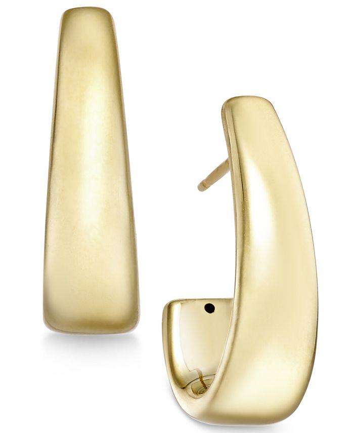 Macy's - J-Hoop Earrings in 14k Gold