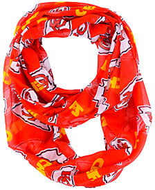 Forever Collectibles Kansas City Chiefs All Over Logo Infinity Wrap Scarf