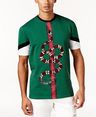 Hudson NYC Men's Embroidered Snake T-Shirt