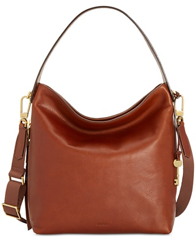 Fossil Maya Leather Hobo