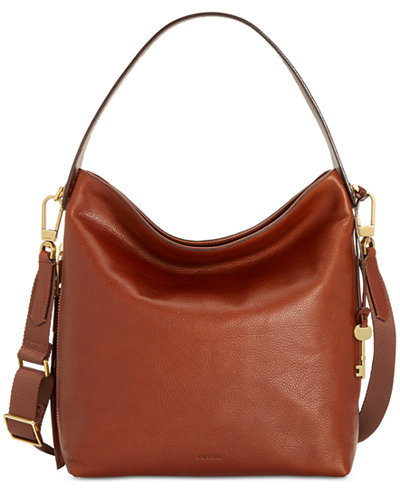 Fossil Maya Leather Hobo - Handbags & Accessories - Macy's