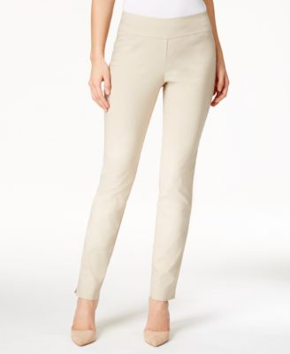 Image of Charter Club Cambridge Tummy-Control Slim-Leg Pants, Only at Macy's
