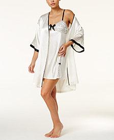 Thalia Sodi Lace And Satin Bridal Wrap Robe & Chemise Separates, Created for Macy's