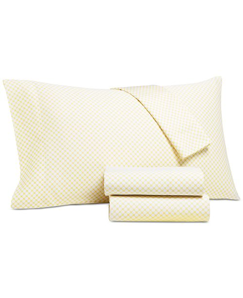 Charter Club Printed Dot King 4-pc Sheet Set, 500 Thread Count, Created for Macy's